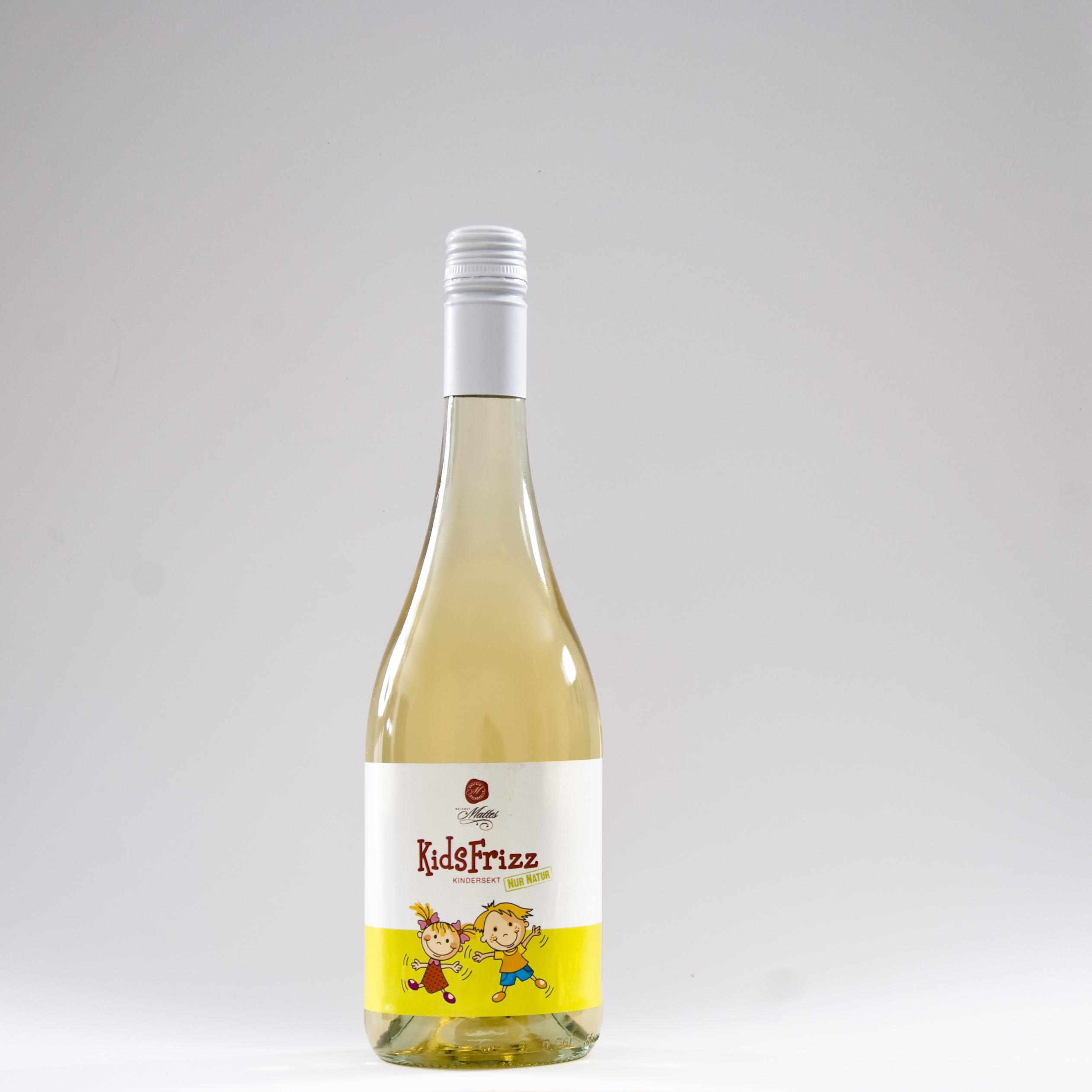 KidsFRIZZ natürlicher Kindersekt Weingut Mattes