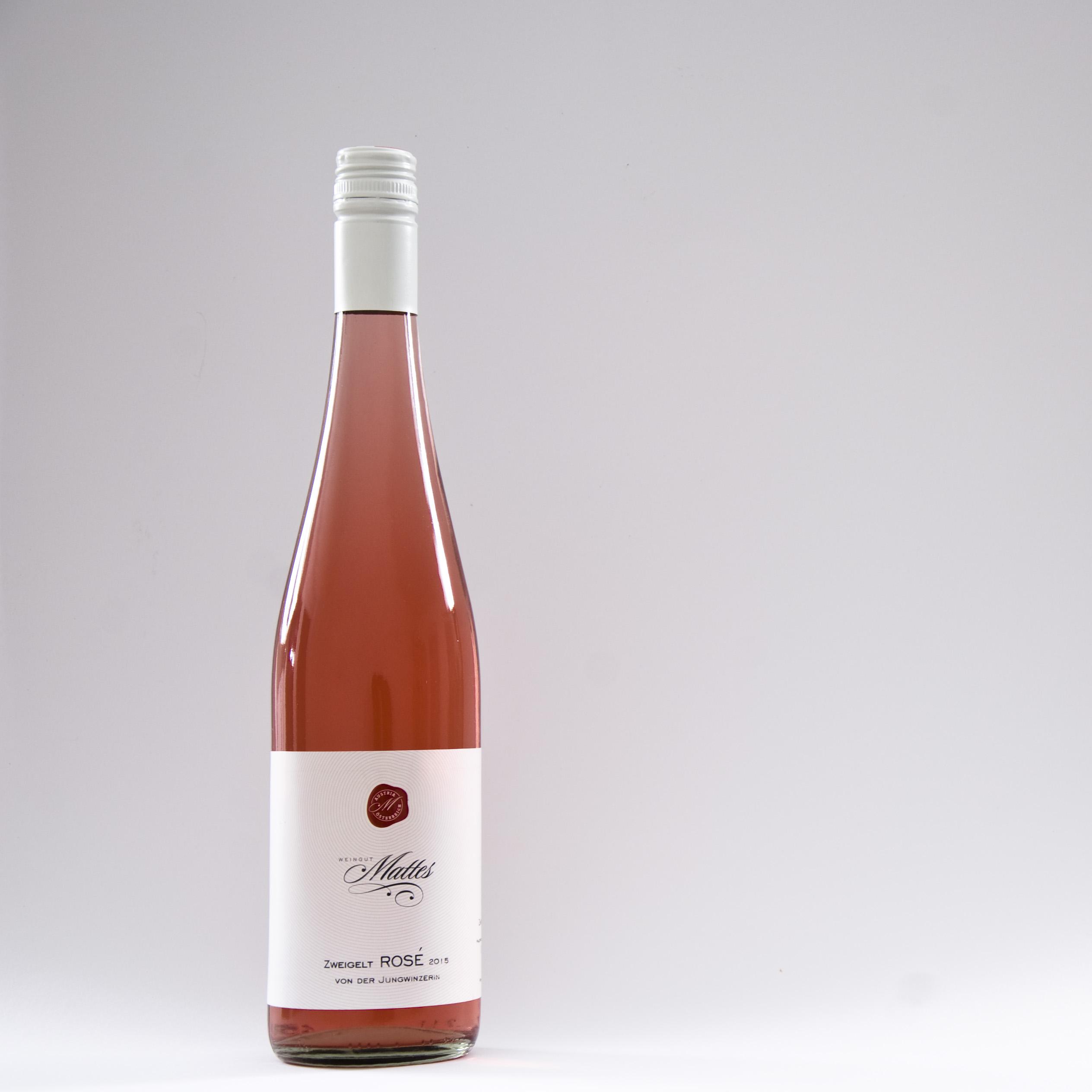 Rose Zweigelt Rotwein Weingut Mattes Dürnleis